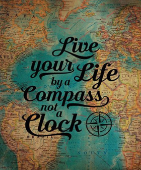LIve your life by a compass