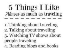 5 dingen die ik bijna net zo graag doe als reizen …