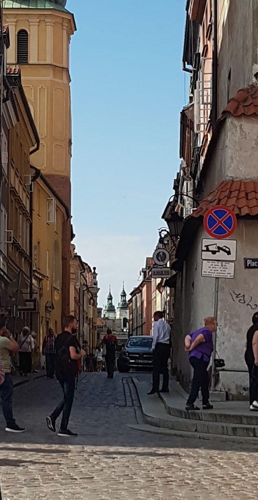 Side street old Warschau