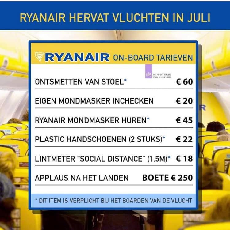 Humour with a wink at Ryanair.