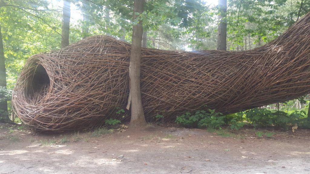 sculptuur 'de boom in'