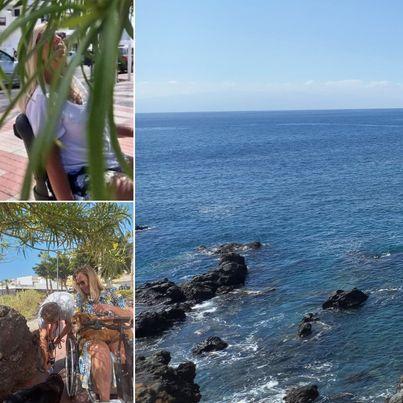 Wandel/rollen in Playa de San Juan.