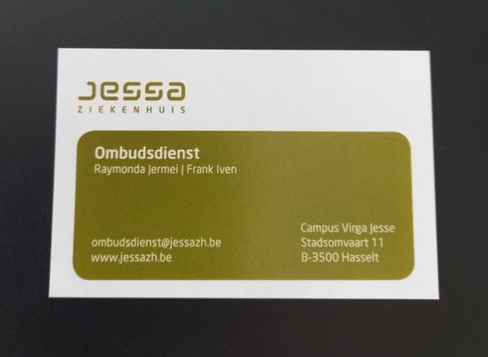 Vervolg: Met pendelbusje van Jessa naar Salvator –> klacht naar ombudsdienst.