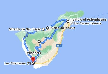'Wandelen met de auto' deel 3; Vilaflor, el Teide, Izaña, Puerto de la Cruz, mirador San Pedro.